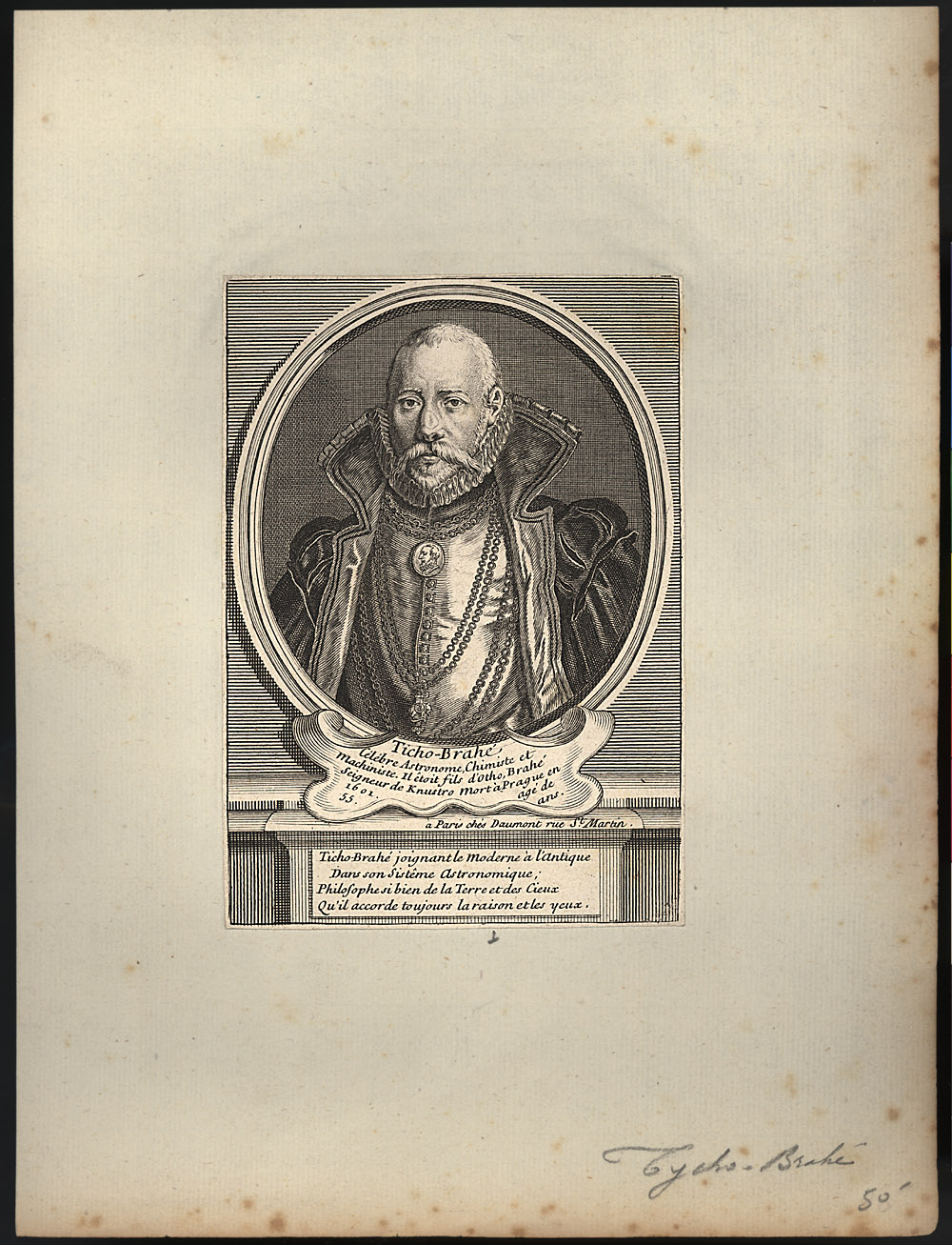 Portrait of Tycho Brahe,  Image number:SIL14-B7-07a