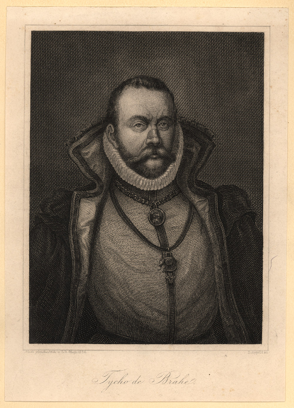 Portrait of Tycho Brahe,  Image number:SIL14-B7-08a