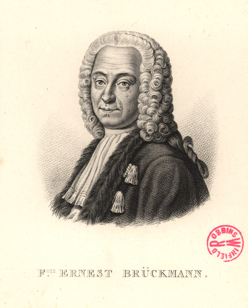 Portrait of Franz Ernest Brückmann,  Image number:SIL14-B9-01a