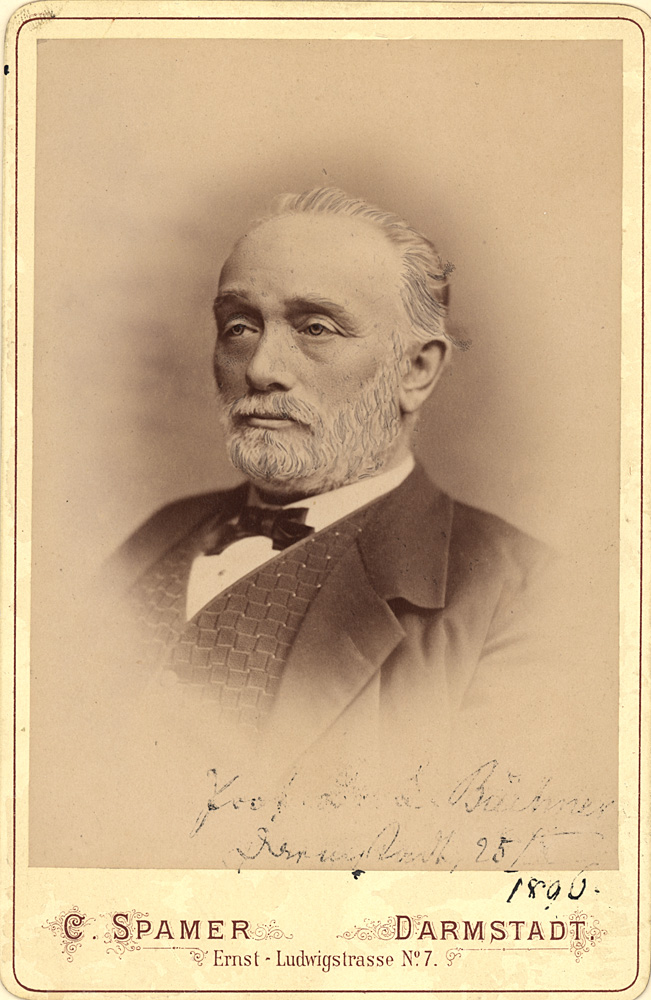 Portrait of Ludwig Friedrich Karl Christian Buechner,  Image number:SIL14-B9-05a