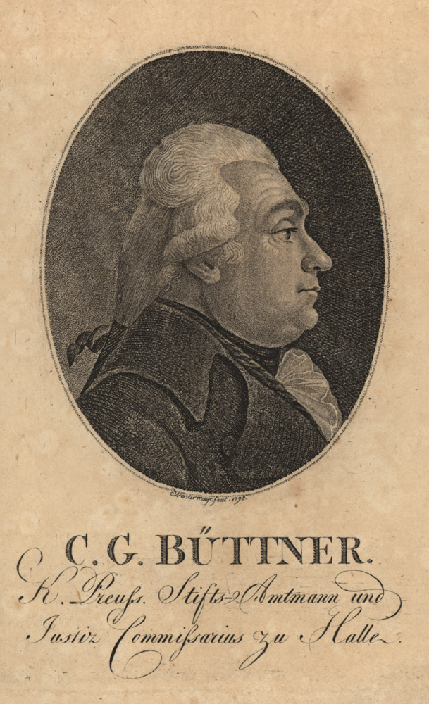 Portrait of Christian Wilhem Buettner,  Image number:SIL14-B9-06a