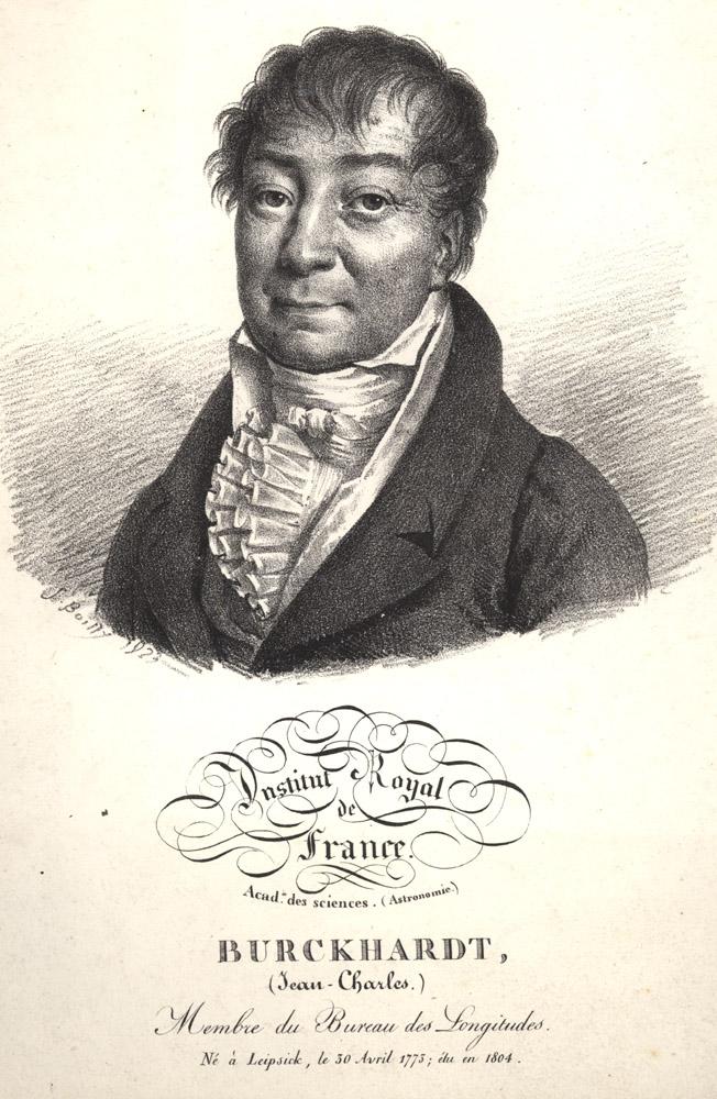 Portrait of Jean Charles Burckhardt,  Image number:SIL14-B9-12a