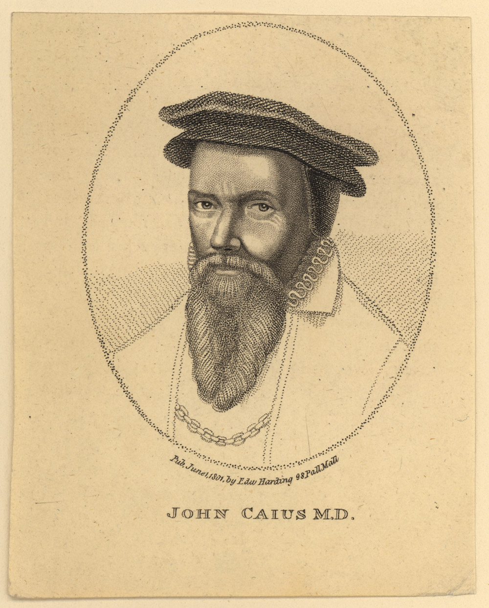 Portrait of John Caius,  Image number:SIL14-C1-03a