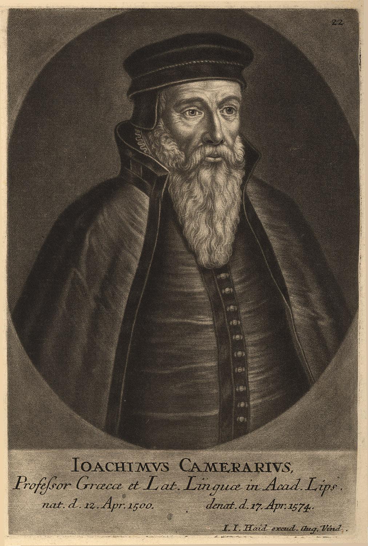 Portrait of Joachim Camerarius,  Image number:SIL14-C1-07a