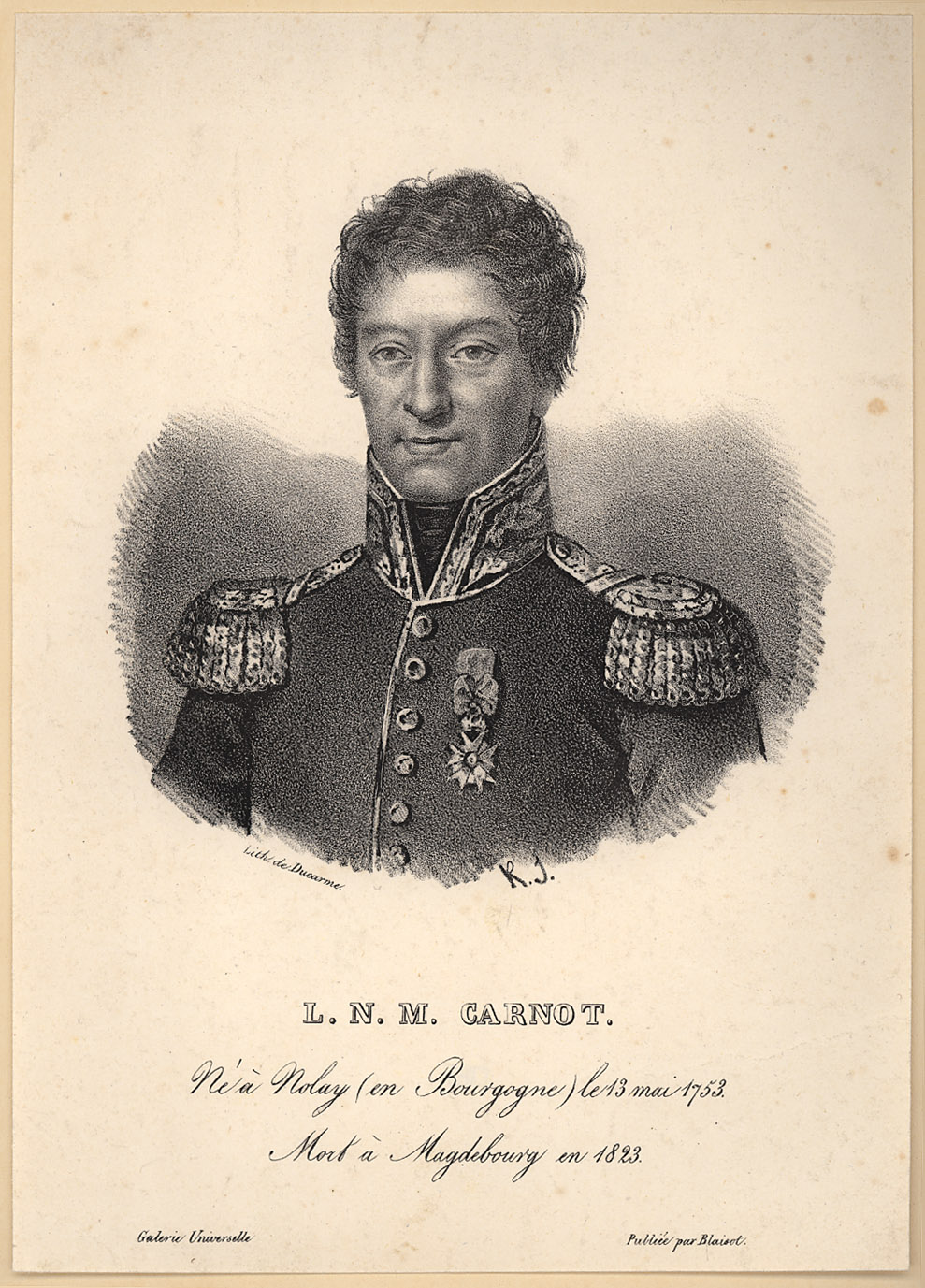 Portrait of Lazare Carnot,  Image number:SIL14-C1-11a