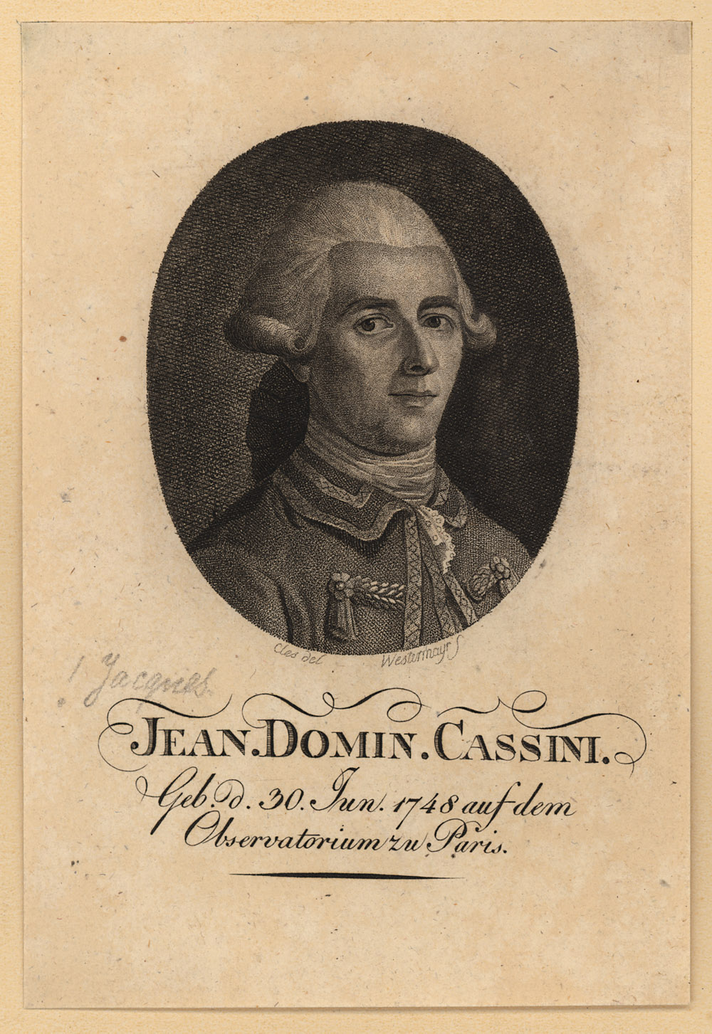 Portrait of Giovanni Comenico Cassini,  Image number:SIL14-C1-15a