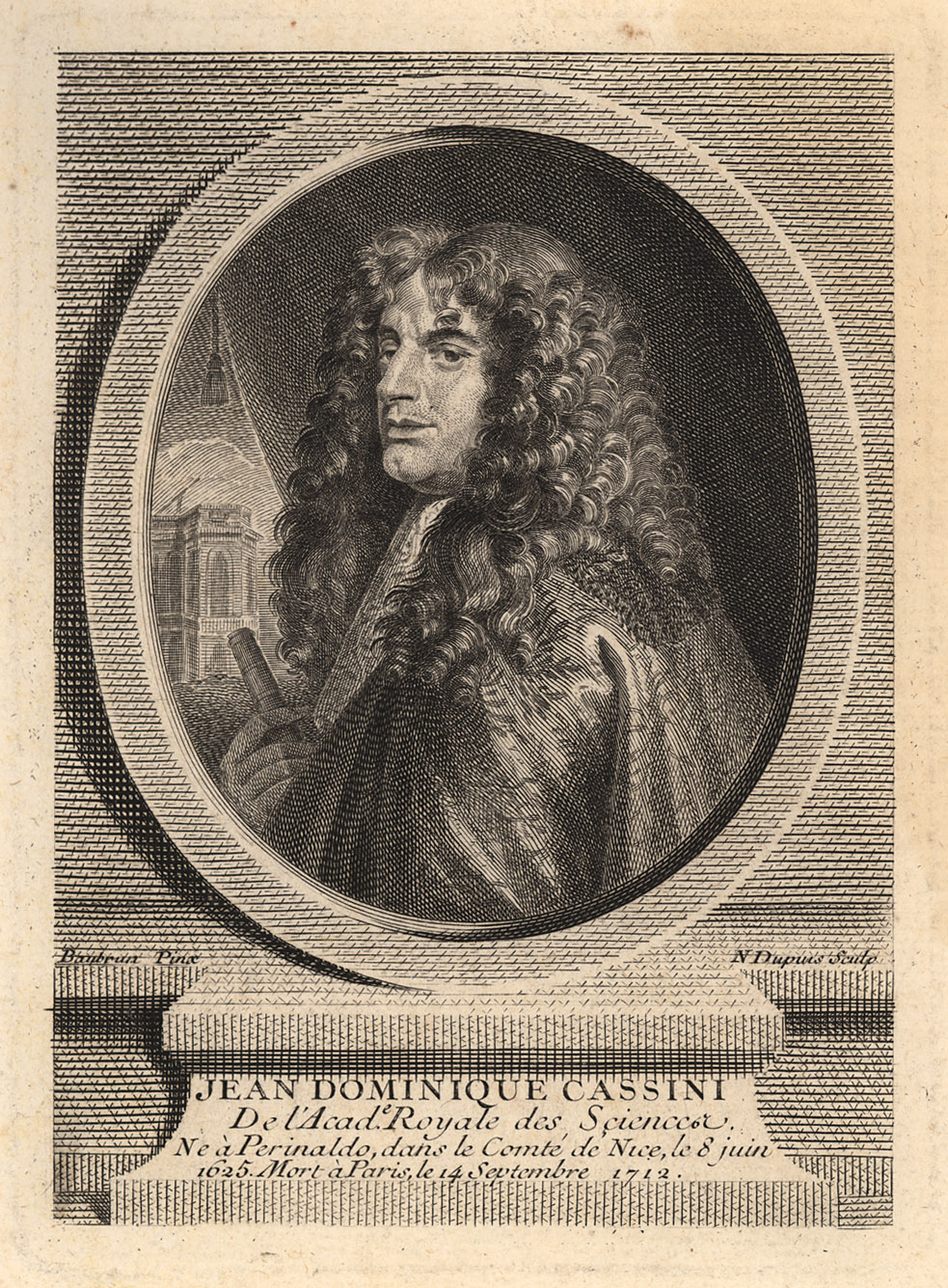 Portrait of Jean-Dominique Cassini,  Image number:SIL14-C1-18a