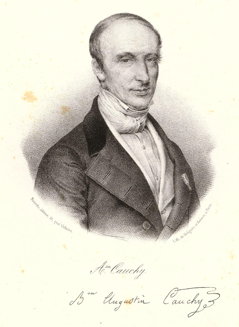 Portrait of Augustin Louis Cauchy,  Image number:SIL14-C2-01a