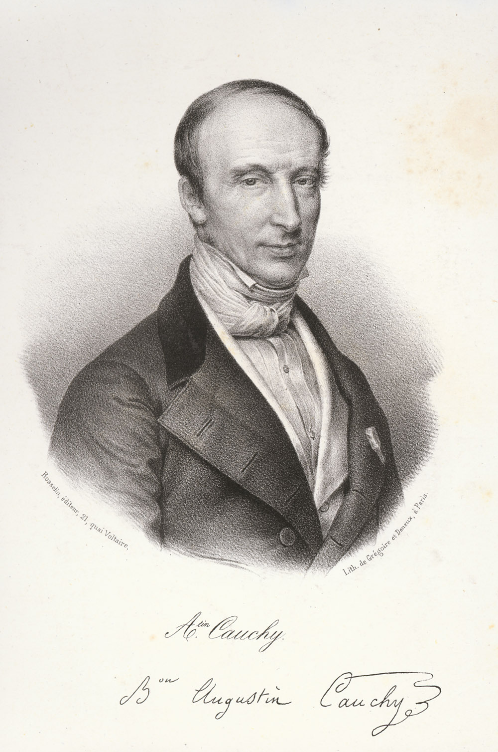 Portrait of Augustin Louis Cauchy,  Image number:SIL14-C2-03a