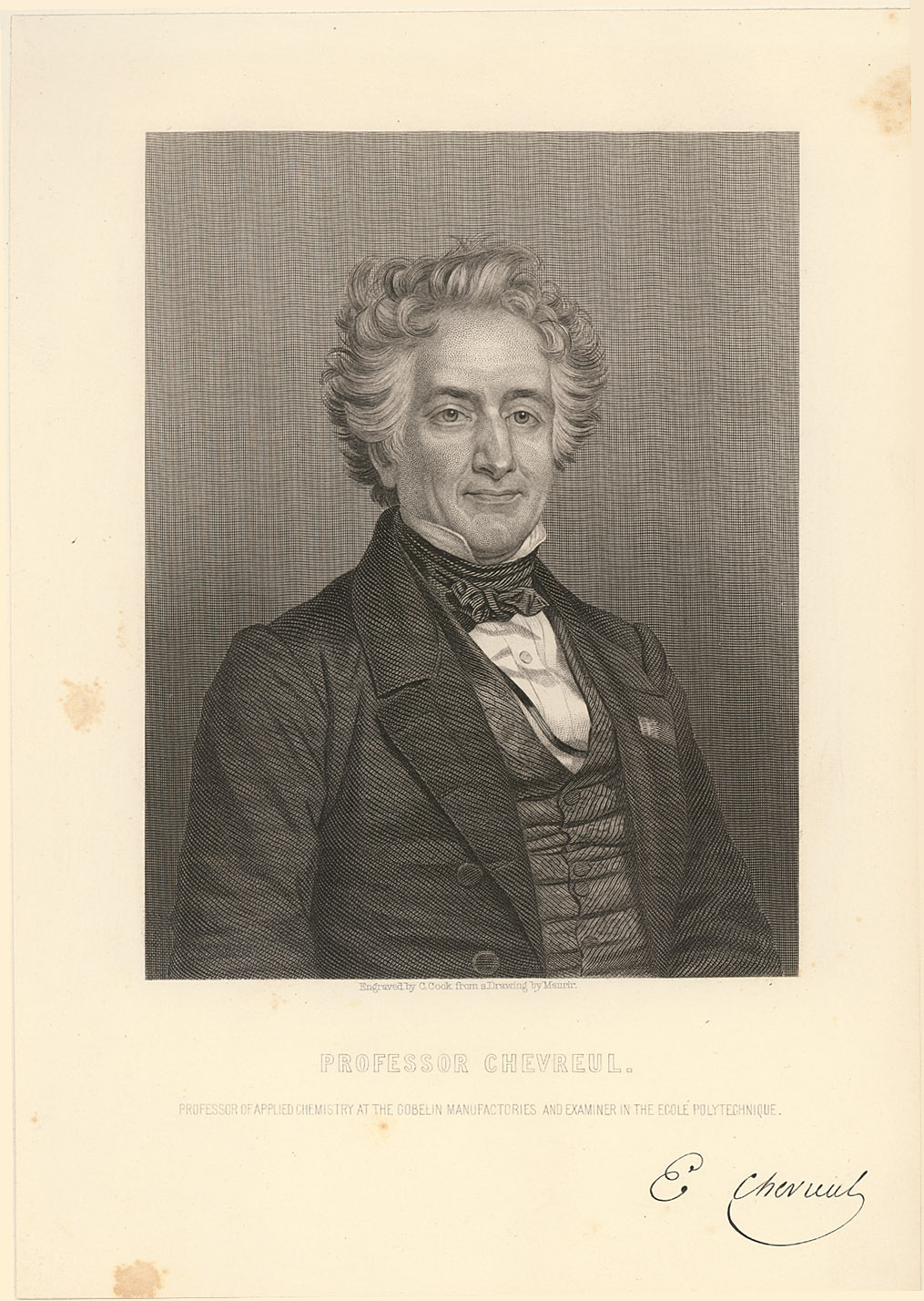 Portrait of Michel Eugène Chevreul,  Image number:SIL14-C3-10a