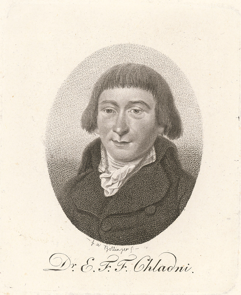 Portrait of Ernst Florens Friedrich Chladni,  Image number:SIL14-C3-12a