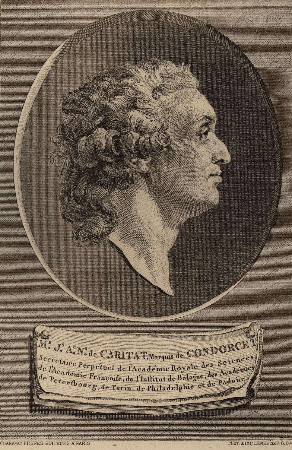 Portrait of Jean-Antoine-Nicolas de Carita Condorcet,  Image number:SIL14-C5-01a