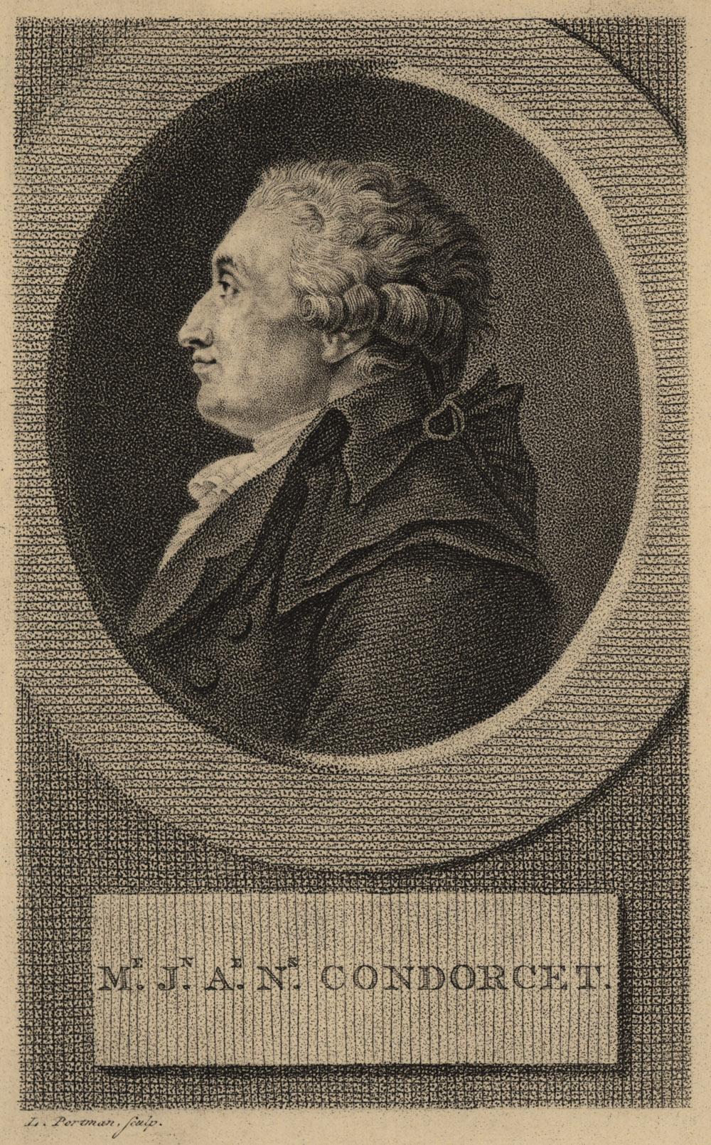 Portrait of Jean-Antoine-Nicolas de Carita Condorcet,  Image number:SIL14-C5-02a