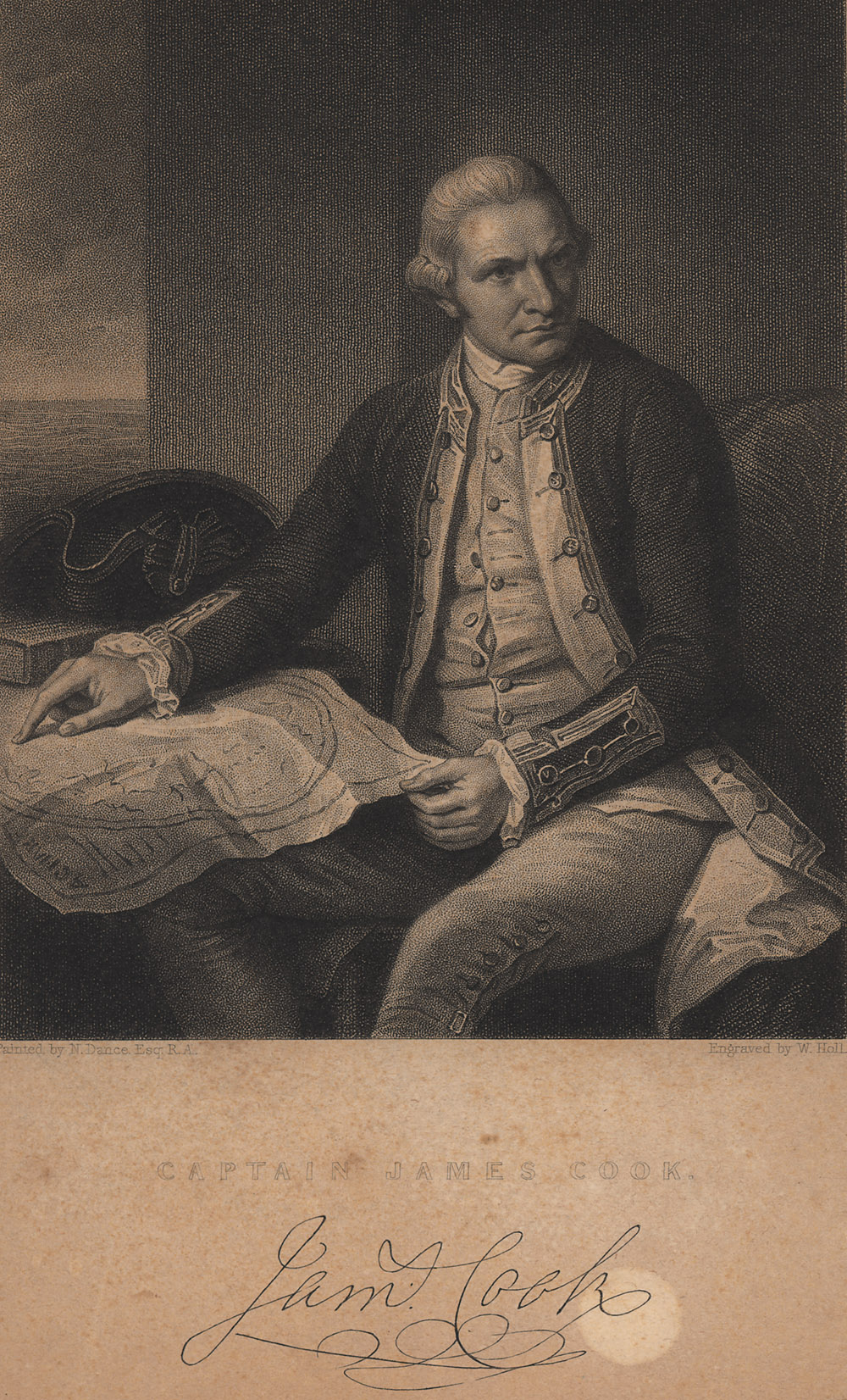 Portrait of James Cook,  Image number:SIL14-C5-05a