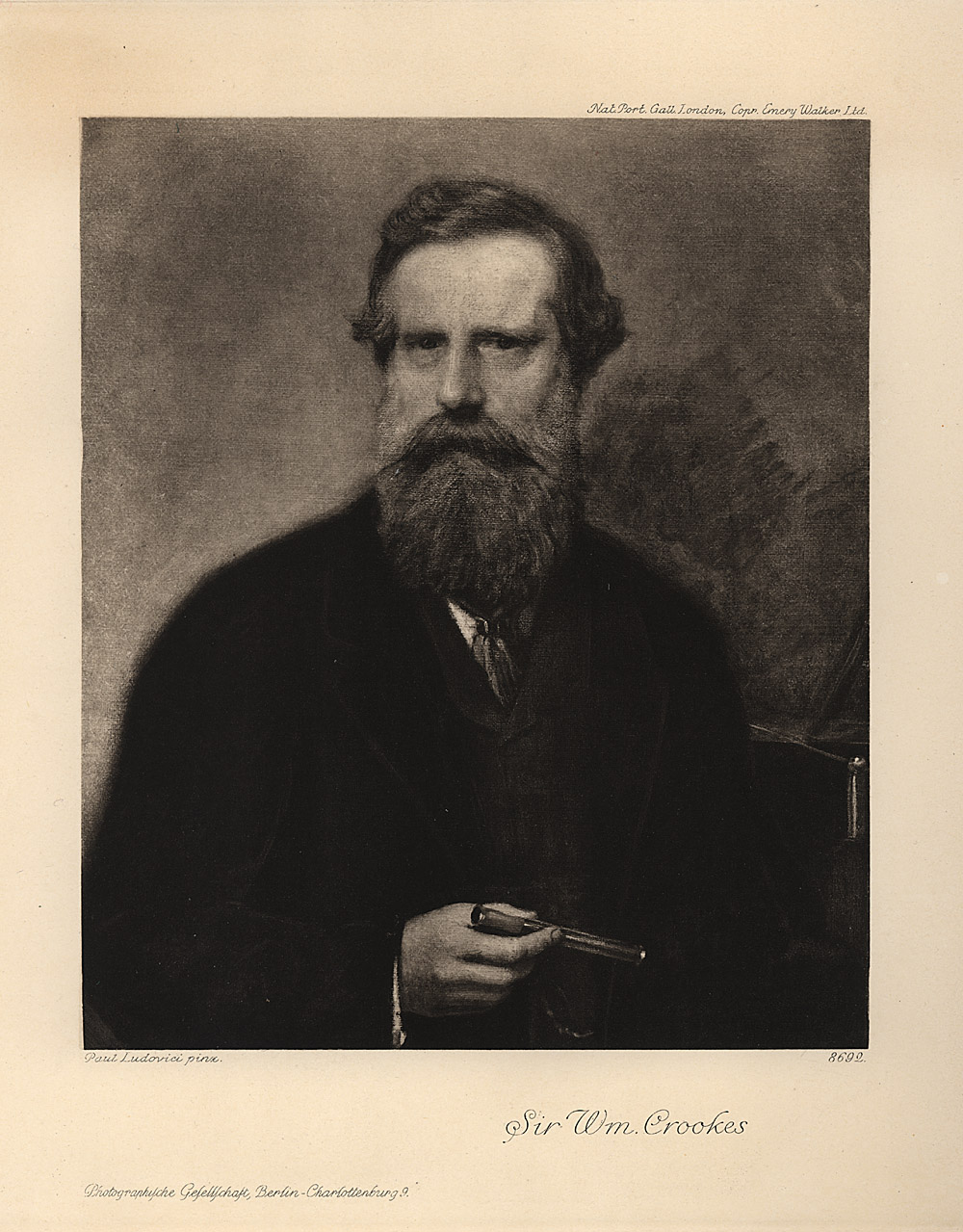Portrait of William Crookes,  Image number:SIL14-C6-04a