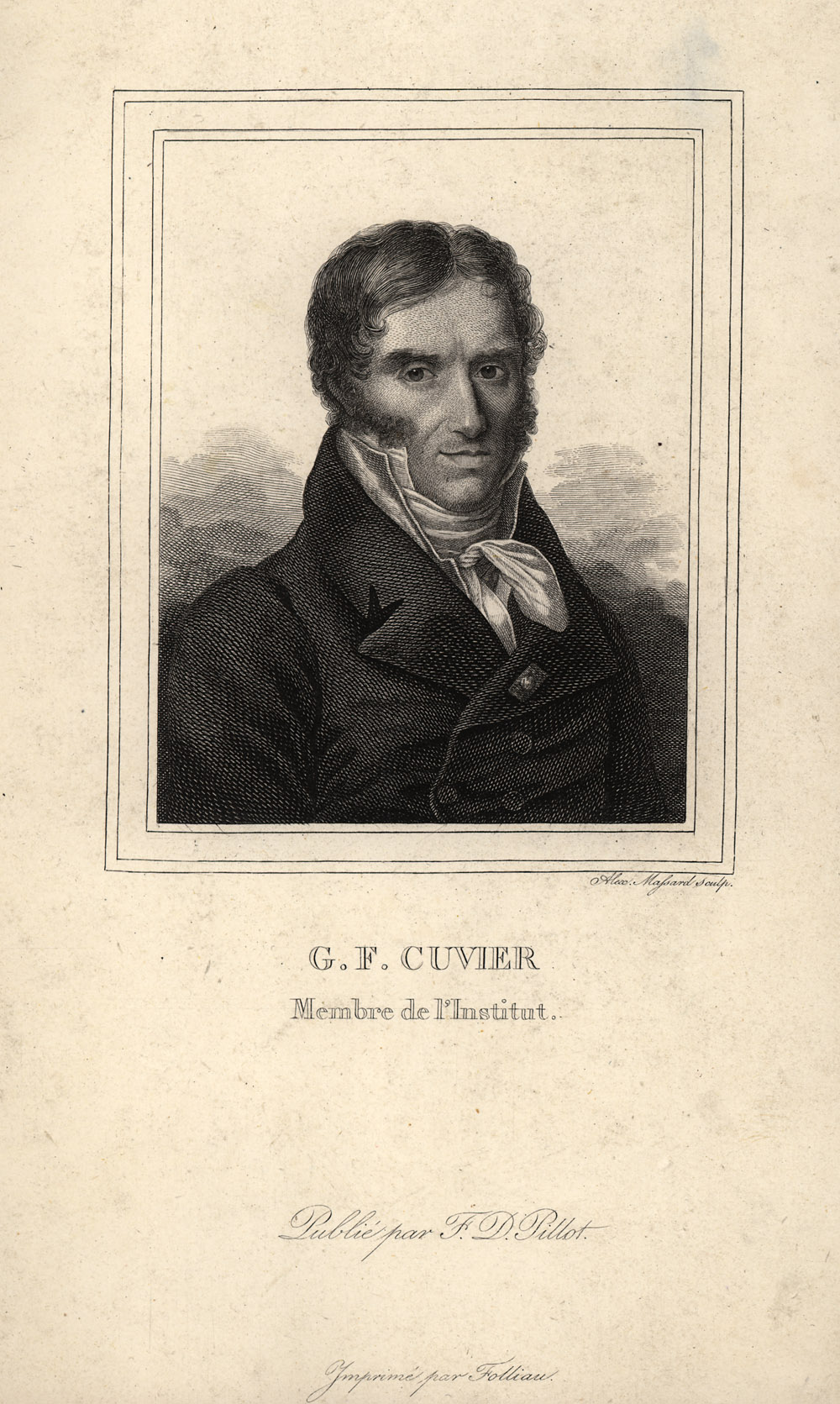 Portrait of Georges Cuvier,  Image number:SIL14-C6-08a
