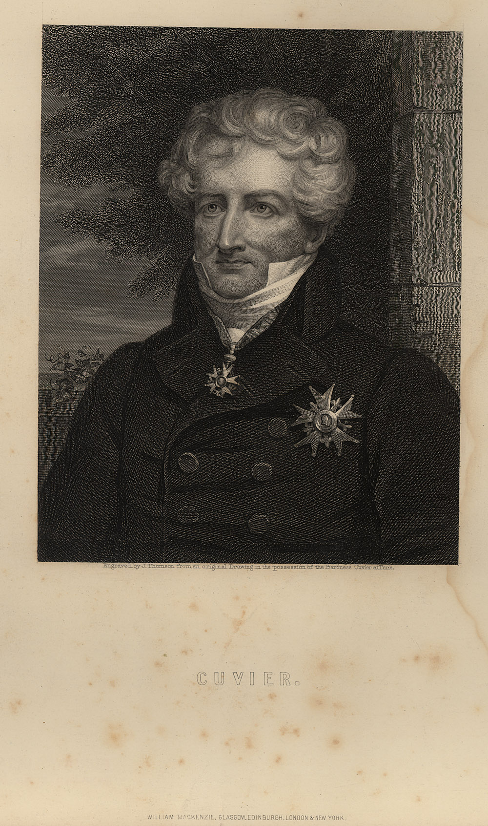 Portrait of Georges Cuvier,  Image number:SIL14-C6-09a