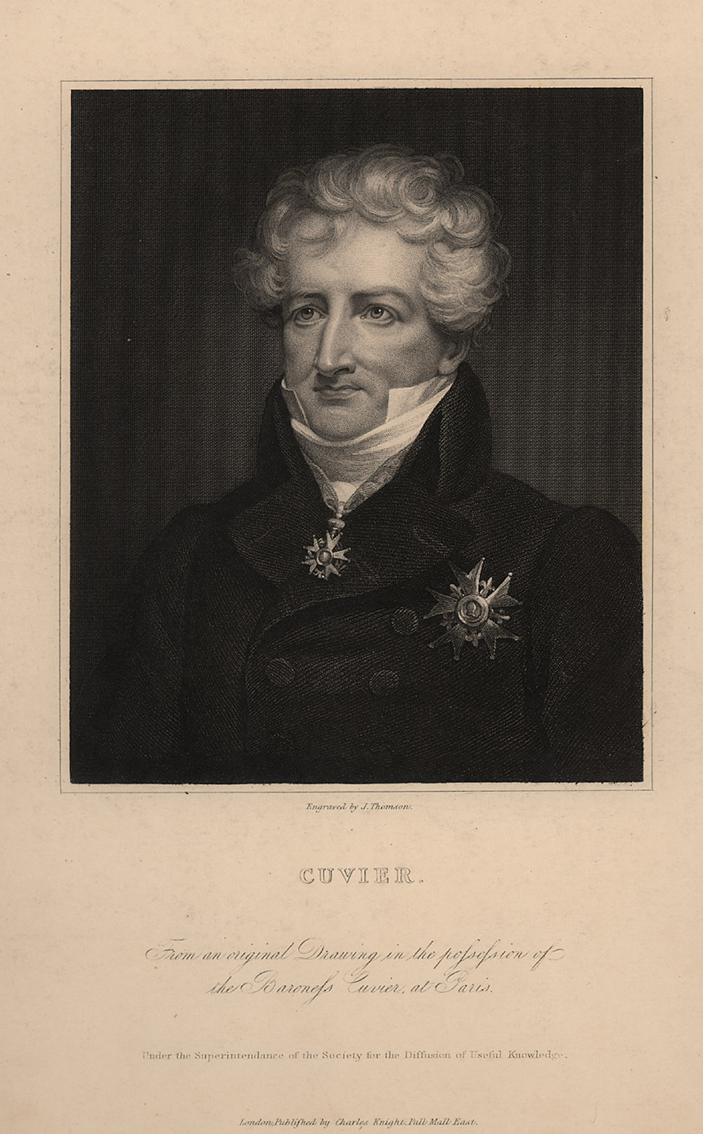 Portrait of Georges Cuvier,  Image number:SIL14-C6-10a