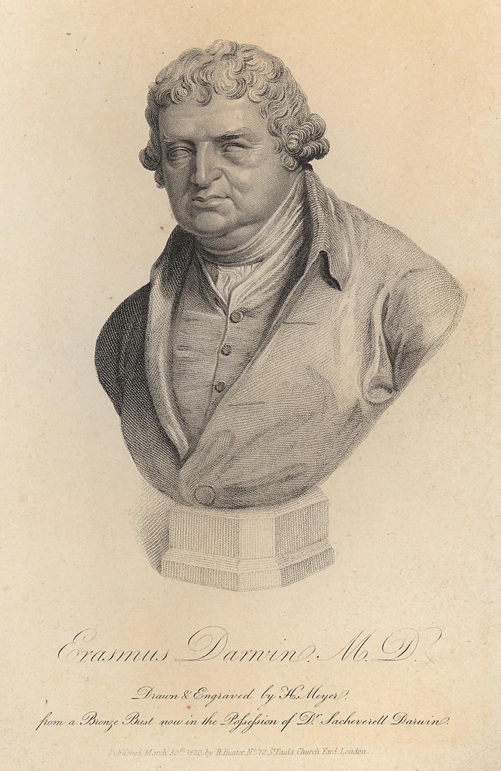 Portrait of Erasmus Darwin,  Image number:SIL14-D1-10a