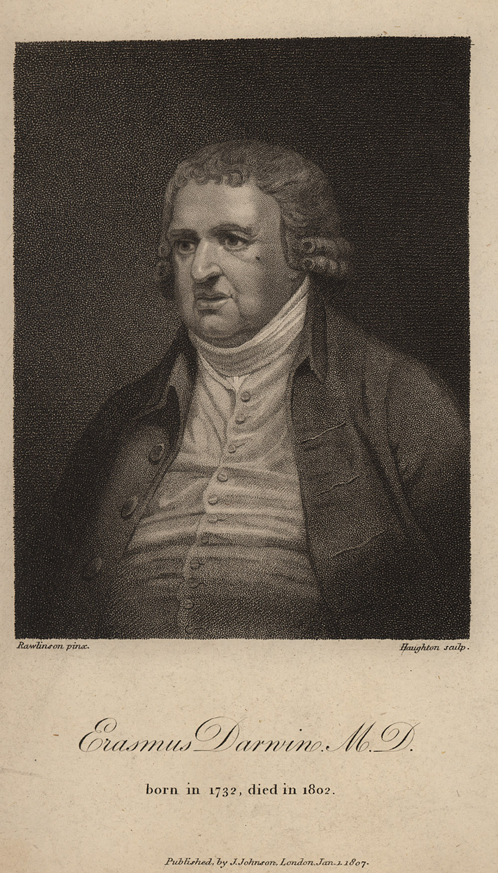 Portrait of Erasmus Darwin,  Image number:SIL14-D1-11a