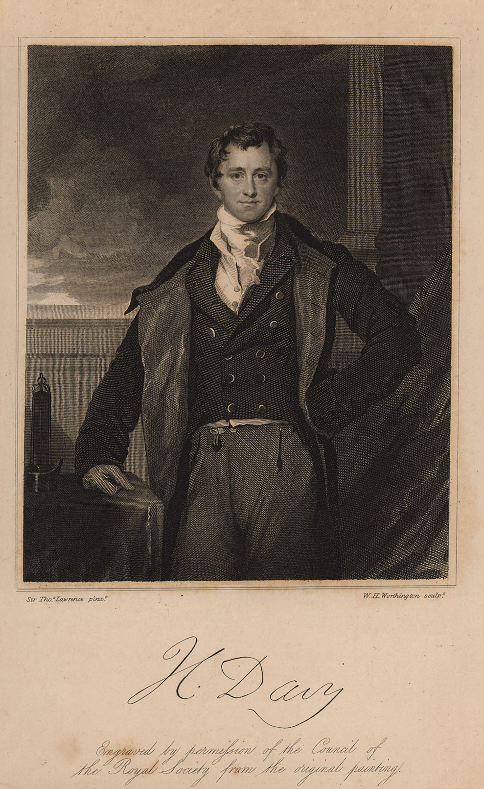 Portrait of Humphry Davy,  Image number:SIL14-D2-02a