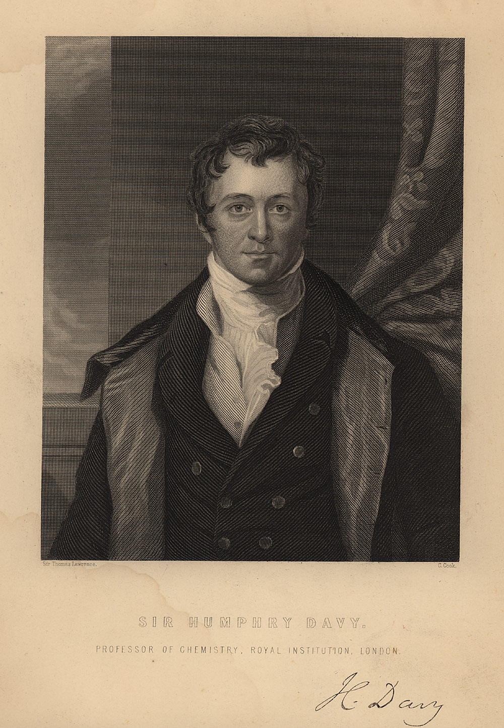 Portrait of Humphry Davy,  Image number:SIL14-D2-04a
