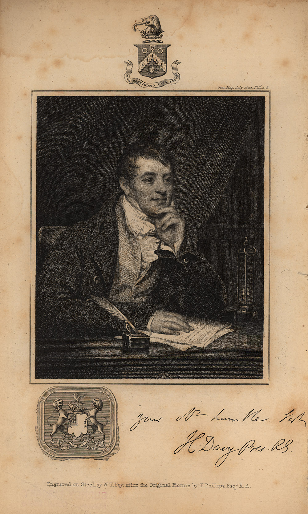 Portrait of Humphry Davy,  Image number:SIL14-D2-06a