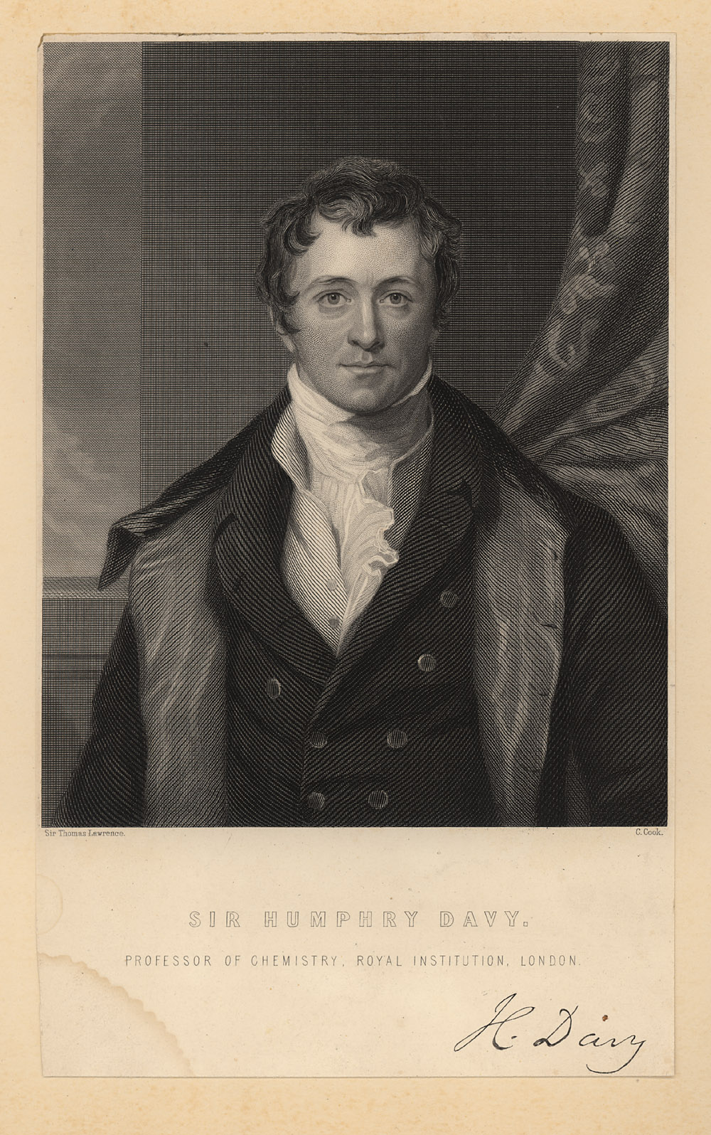 Portrait of Humphry Davy,  Image number:SIL14-D2-07a