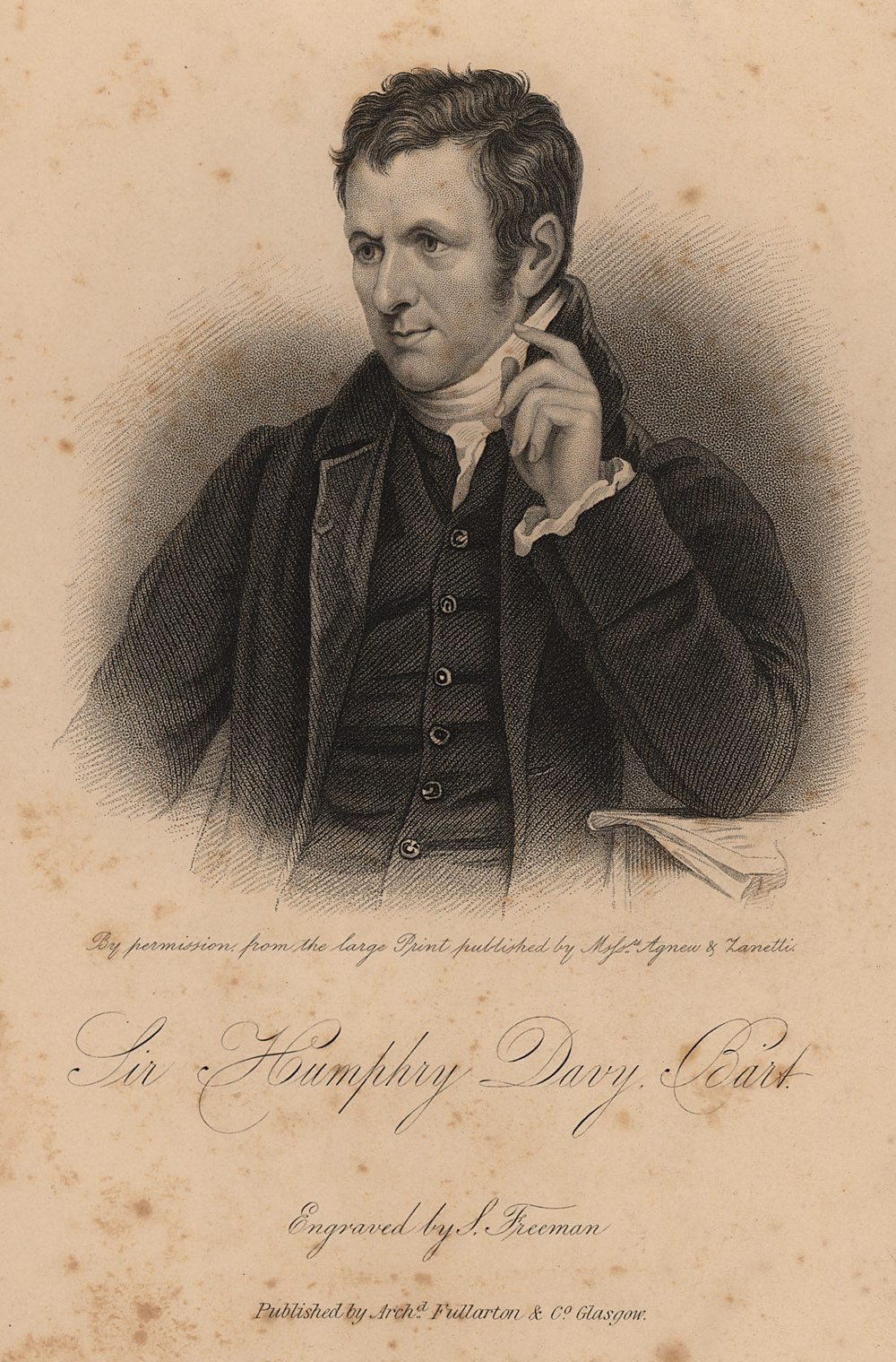 Portrait of Humphry Davy,  Image number:SIL14-D2-09a