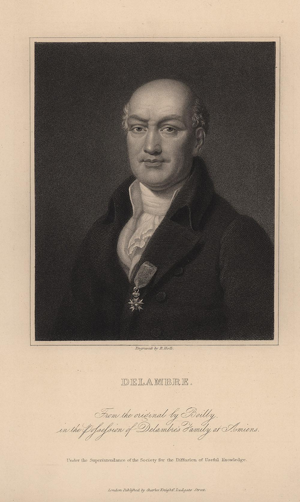 Portrait of Jean Baptiste Joseph Delambre,  Image number:SIL14-D2-16a