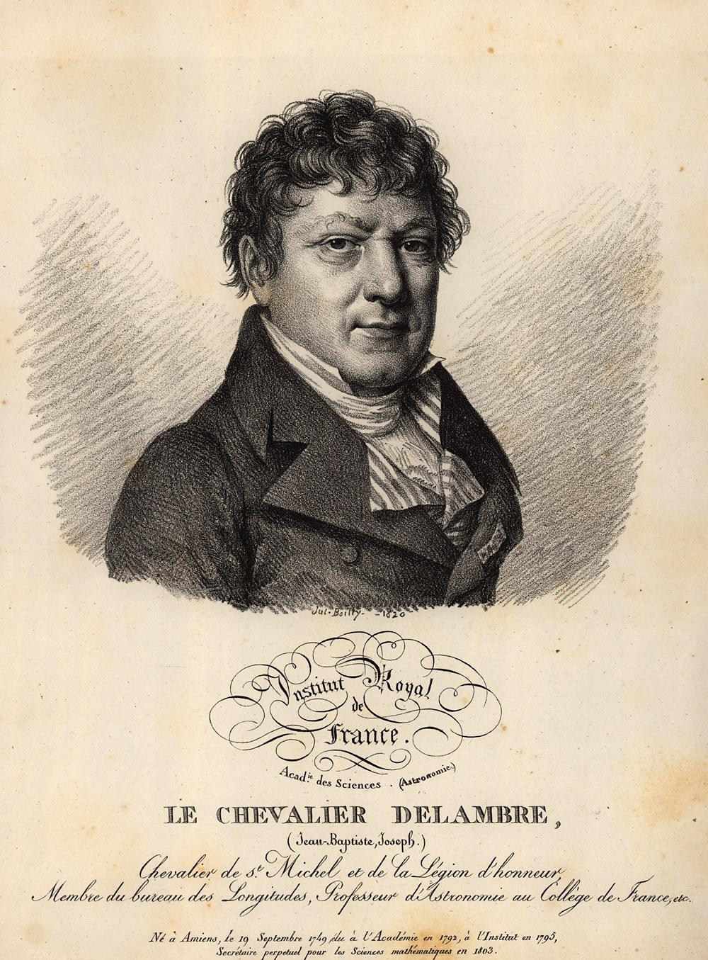 Portrait of Jean Baptiste Joseph Delambre,  Image number:SIL14-D2-17a