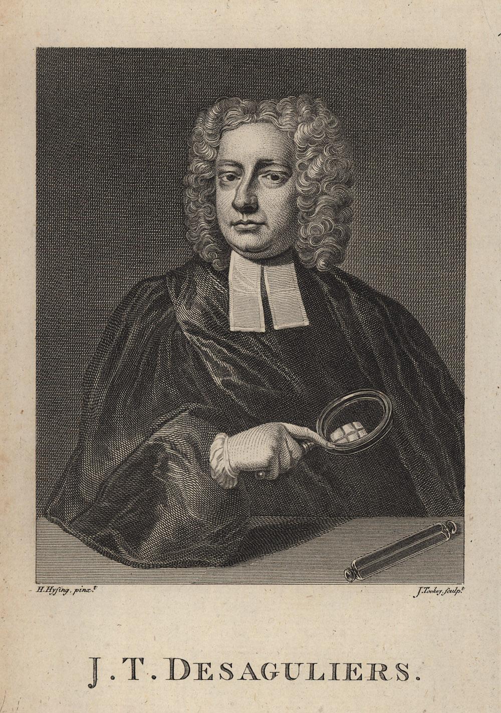 Portrait of John Theophilus Desaguliers,  Image number:SIL14-D3-01a