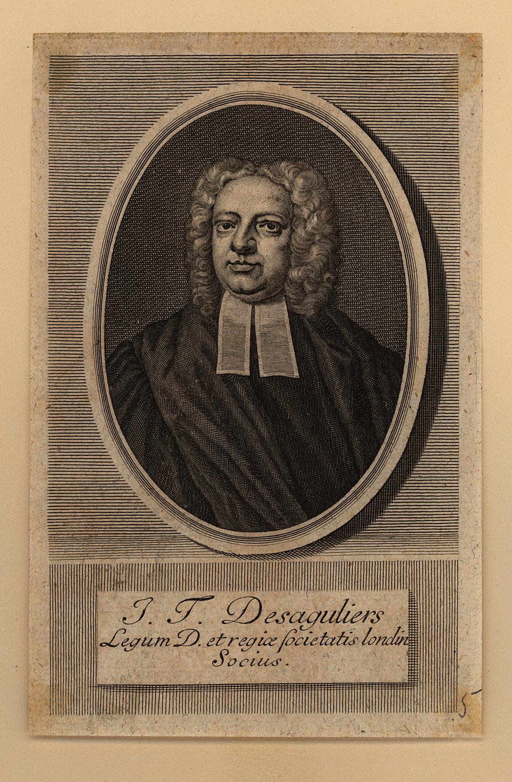 Portrait of John Theophilus Desaguliers,  Image number:SIL14-D3-02a