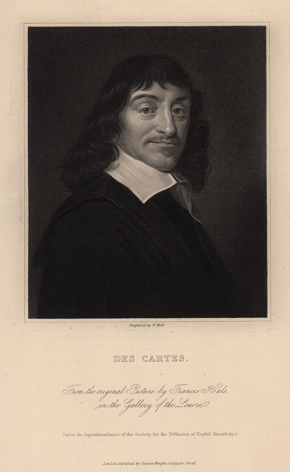 Portrait of René Descartes,  Image number:SIL14-D3-03a