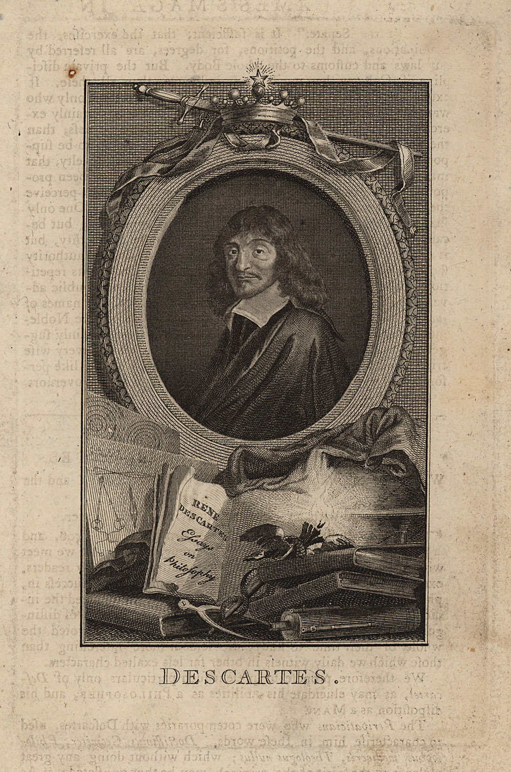 Portrait of René Descartes,  Image number:SIL14-D3-04a