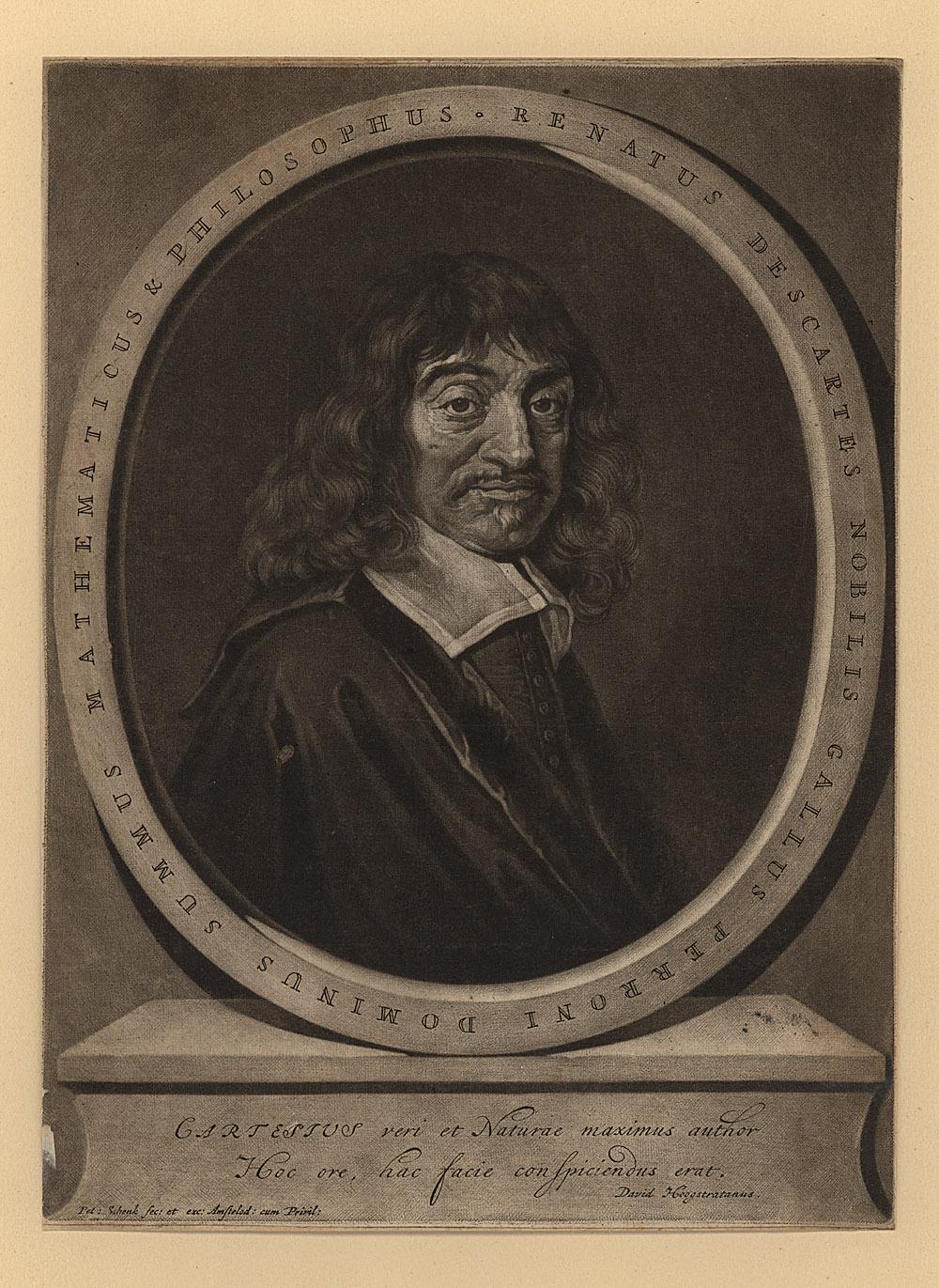 Portrait of René Descartes,  Image number:SIL14-D3-05a