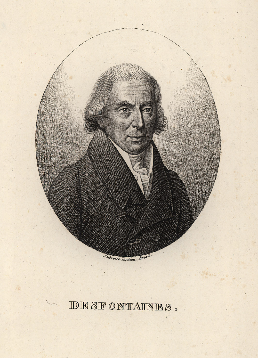 Portrait of René Louiche Desfontaines,  Image number:SIL14-D3-06a
