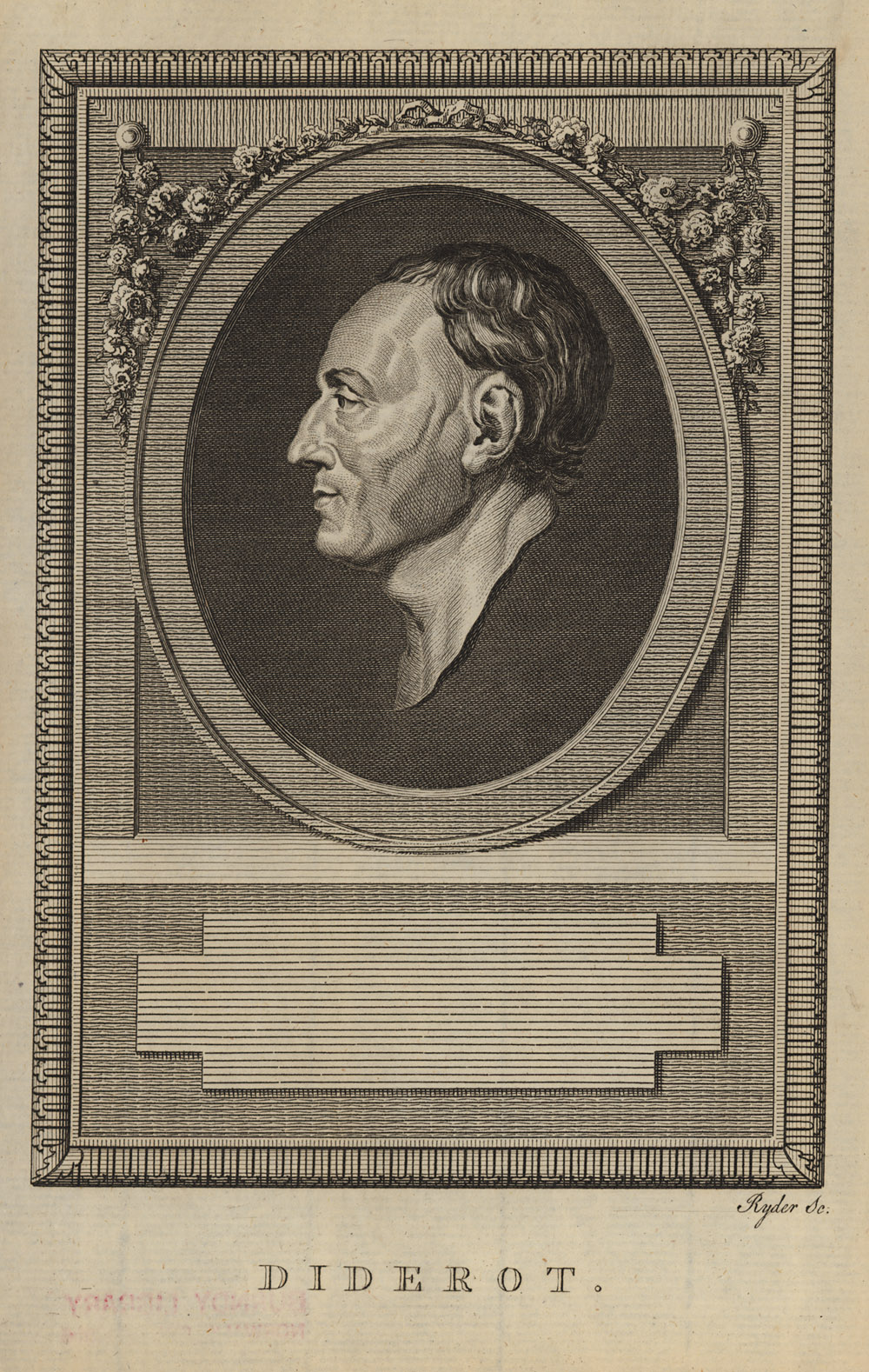 Portrait of Denis Diderot,  Image number:SIL14-D4-01a