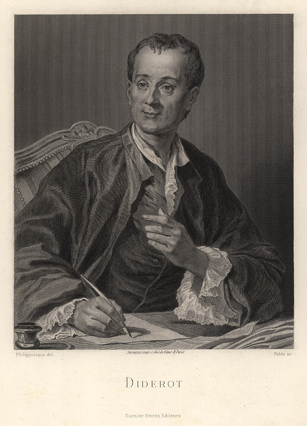Portrait of Denis Diderot,  Image number:SIL14-D4-02a