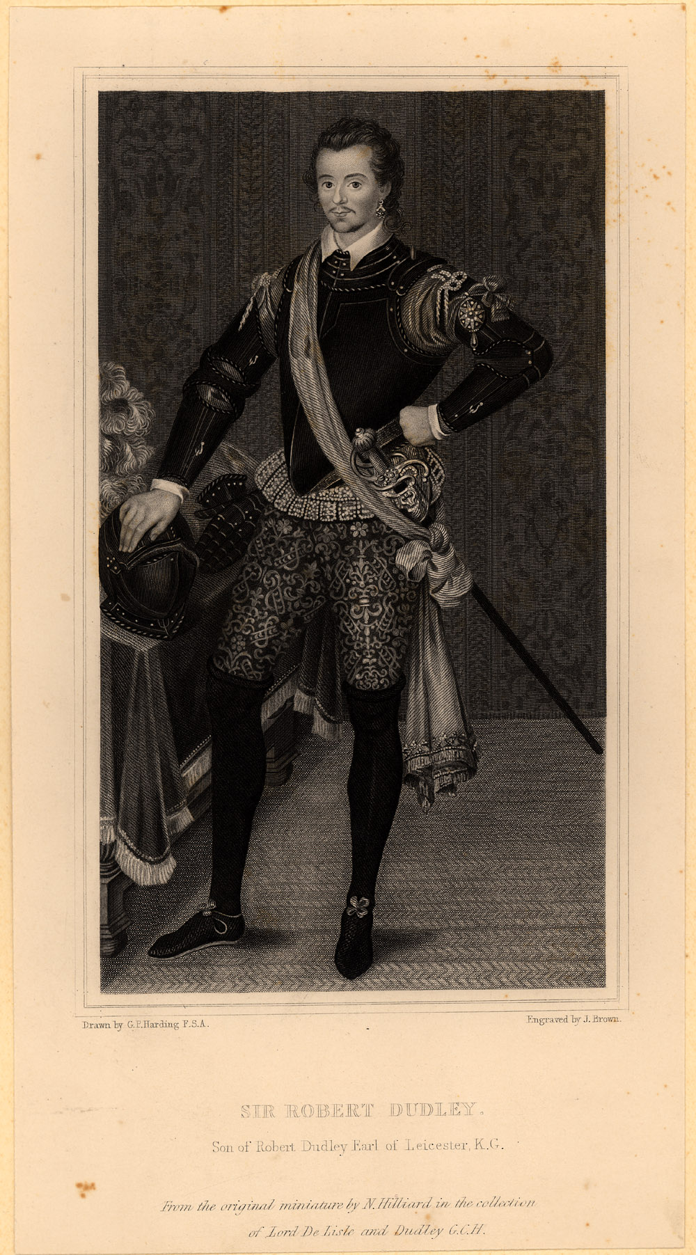 Portrait of Robert Dudley,  Image number:SIL14-D5-05a