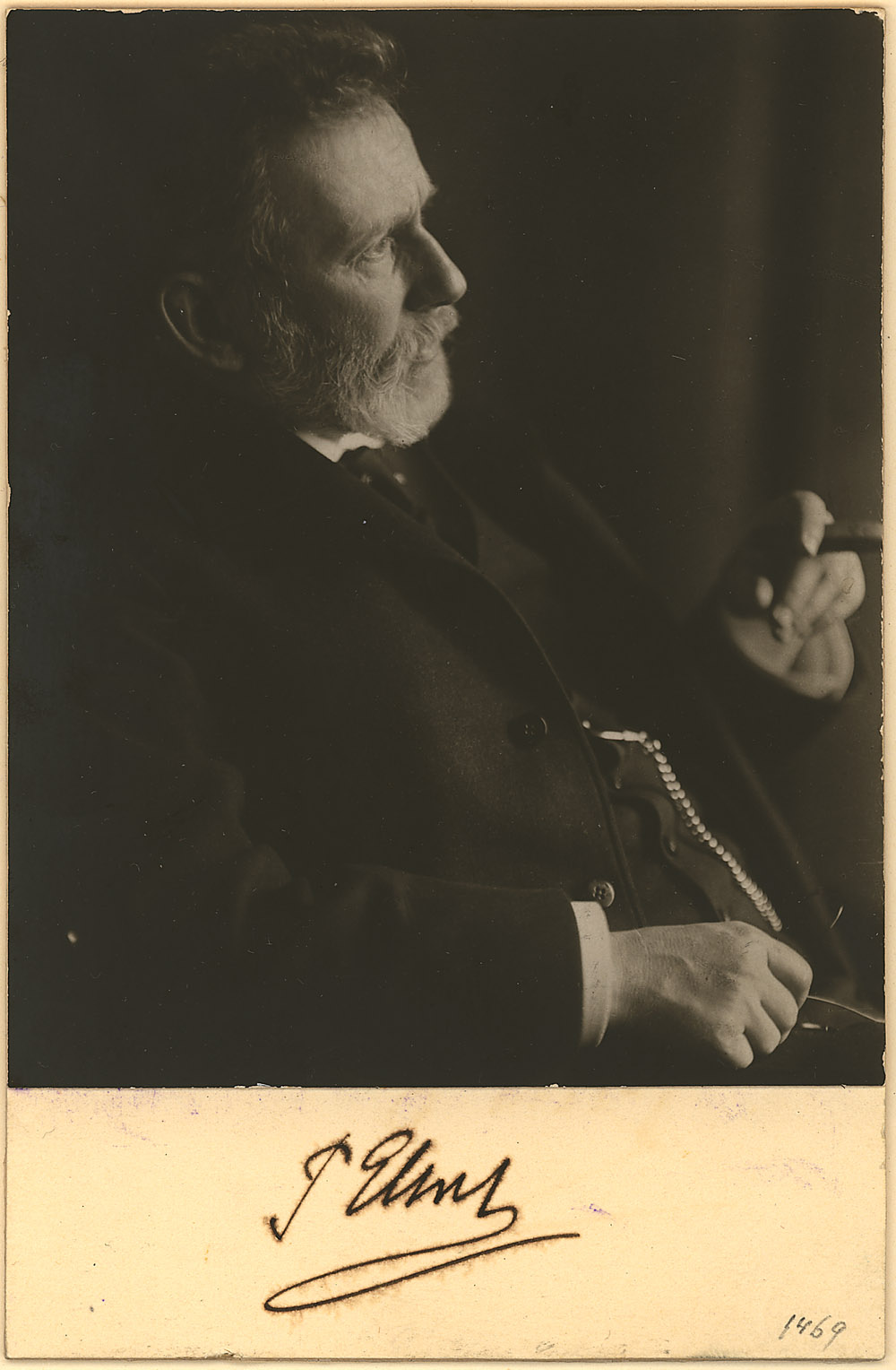 Portrait of Paul Ehrlich,  Image number:SIL14-E1-04a