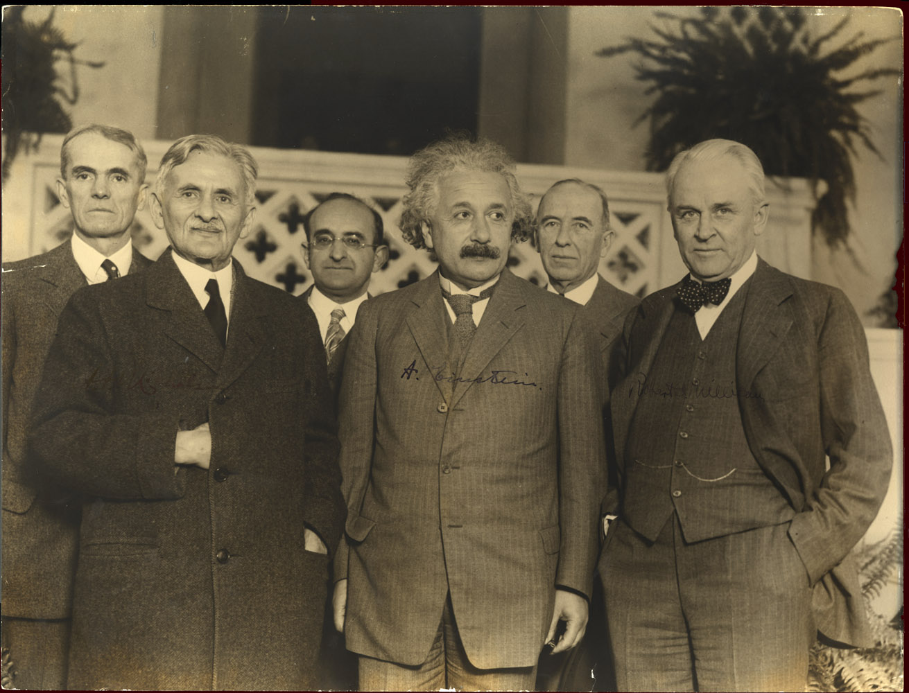 Portrait of Albert Einstein and Others,  Image number:SIL14-E1-10a