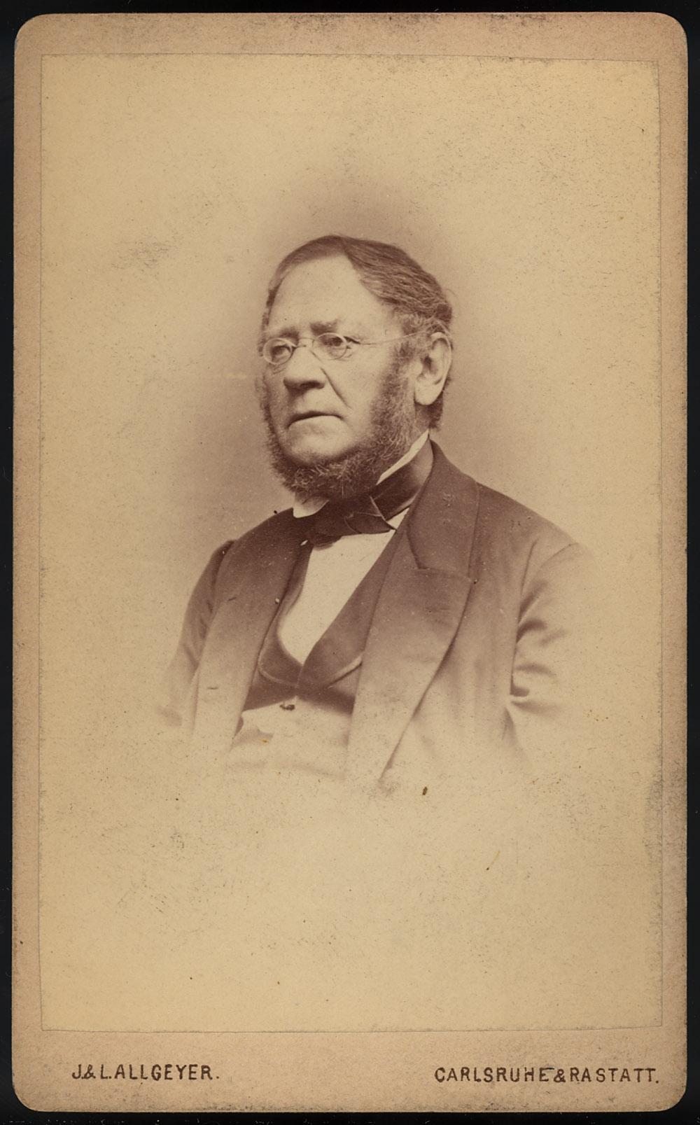 Portrait of Wilhelm Friedrich Eisenlohr,  Image number:SIL14-E1-11a