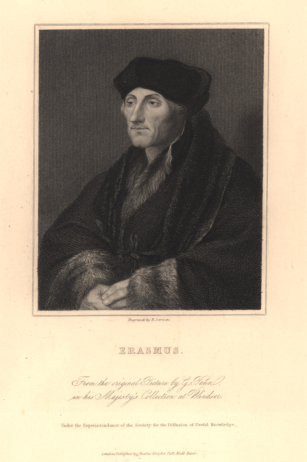 Portrait of Desiderius Erasmus,  Image number:SIL14-E2-01a