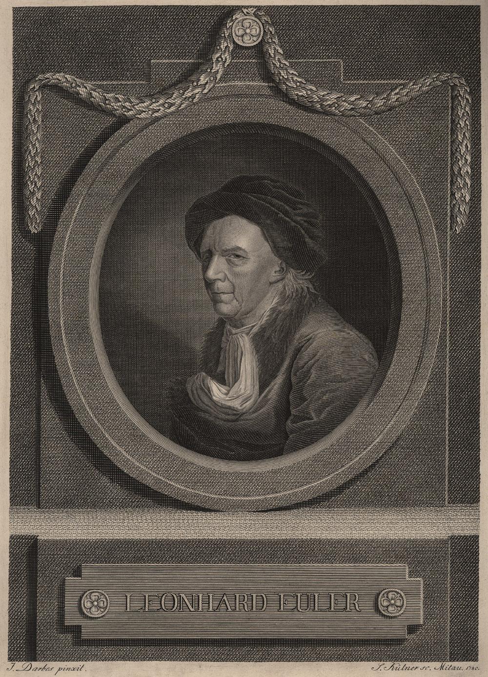 Portrait of Leonhard Euler,  Image number:SIL14-E2-05a