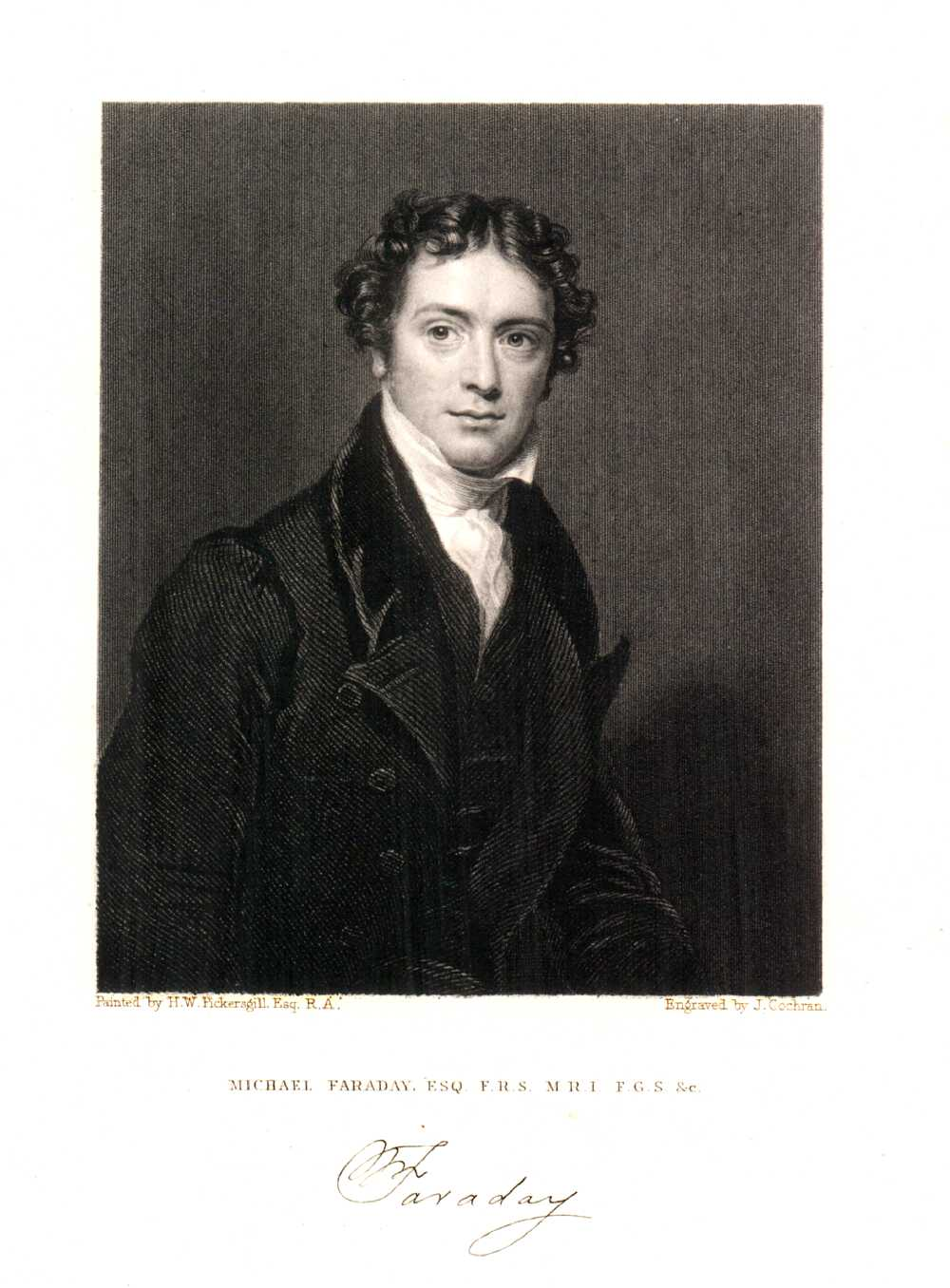 Portrait of Michael Faraday,  Image number:SIL14-F001-05a