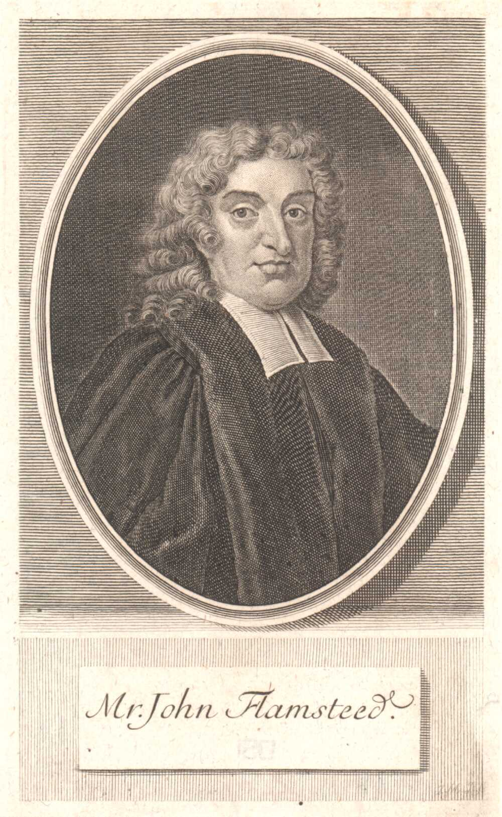 Portrait of John Flamsteed,  Image number:SIL14-F003-01a