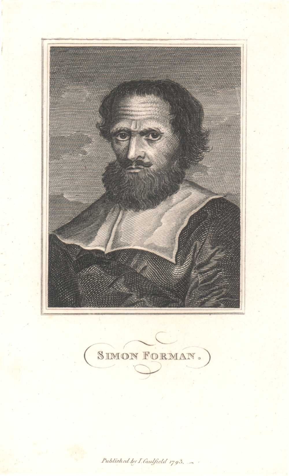 Portrait of Simon Forman,  Image number:SIL14-F003-07a