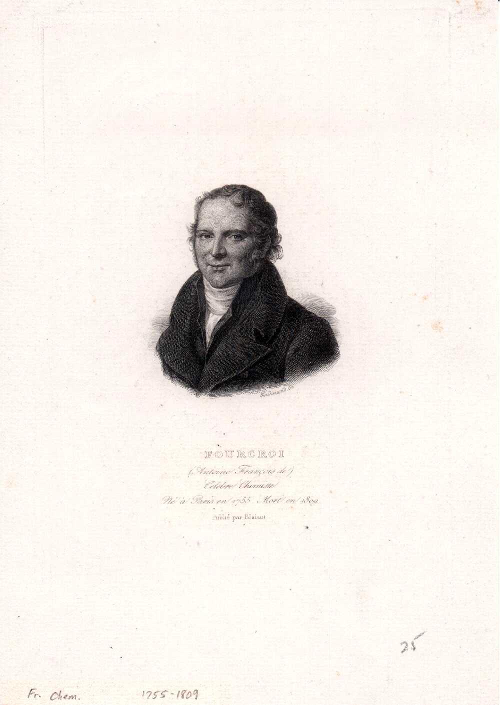 Portrait of Antoine-François de Fourcroy,  Image number:SIL14-F004-01a