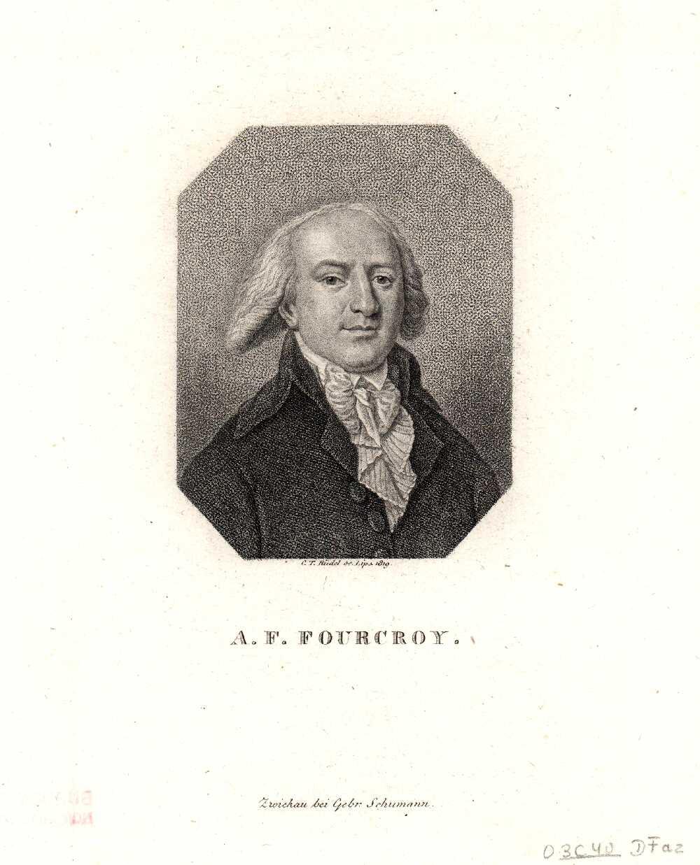 Portrait of Antoine-François de Fourcroy,  Image number:SIL14-F004-03a